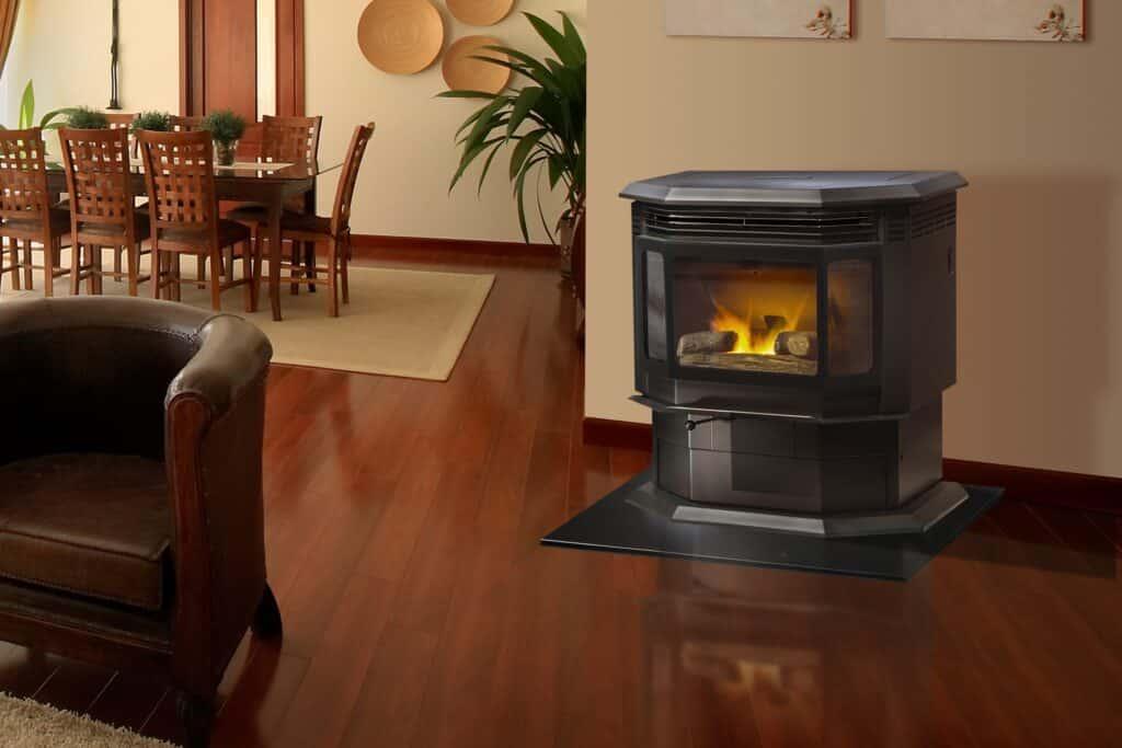 Classic Bay 1200 Pellet Stove by Quadra-Fire 1
